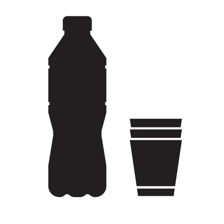Water bottle and cup icon logo or label template in outline stock stock photo water bottle and cup icon logo or label template in outline design maxwellsz