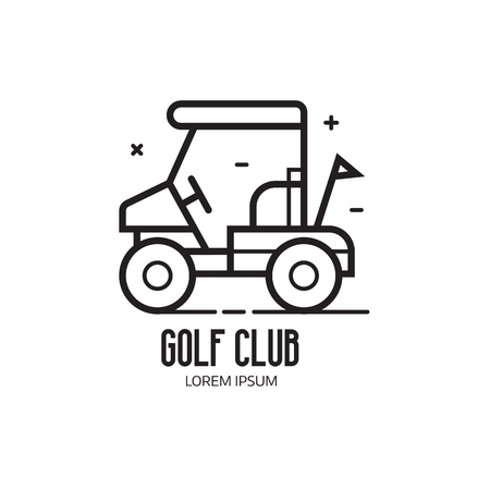 Golf And Club Logotype. Golfing League Logo Or Emblem.. Stock ... Golf Cart Embly Line Html on