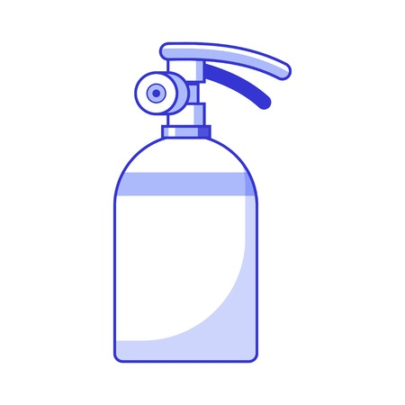 Fire extinguisher vector icon in flat design.