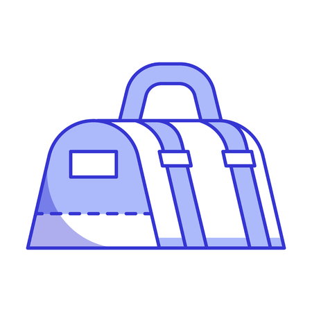 Gym bag for sport and fitness. Vector icon in line art.
