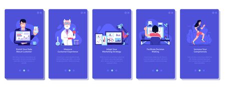 Online Business Marketing Concept Flat UI Illustrations