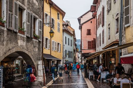 Medieval Annecy Old Town Paved Street View