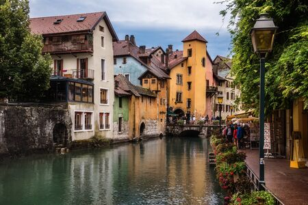 Annecy Thiou Canal in Old Town View