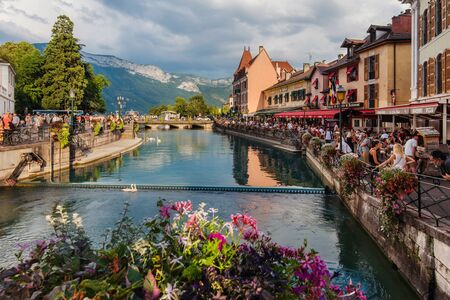 Annecy Old Town and River Canals View
