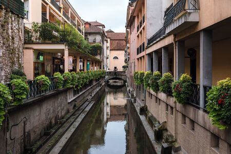 Annecy Thiou River Old Town Canals View