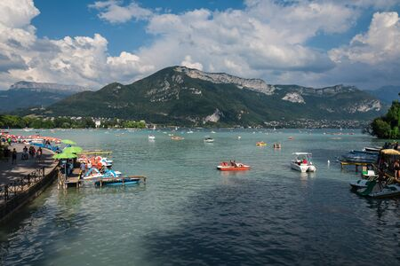Lake Annecy in French Alpes Mountain Landscape
