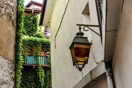 Vintage Lantern Closeup View in Annecy Old Town