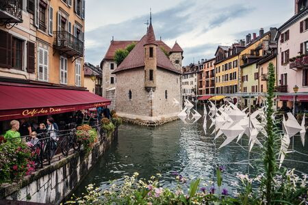 Palace Ille on Thiou River on Annecy Old Town