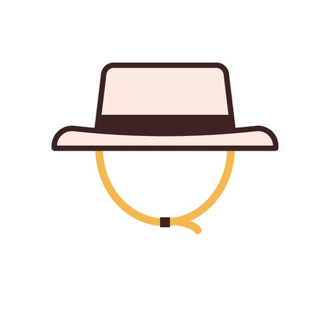 Tourist Hat Vector Icon in Line Art