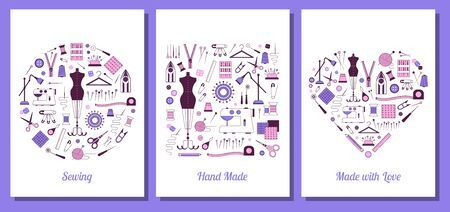 Hand Made Sewing and Tailoring Print Cards