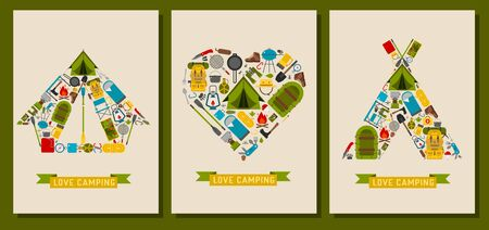 Love Hiking and Camping Prints and Cards