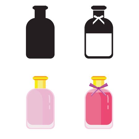 Toilet Water in Perfume Bottle Flat Icons