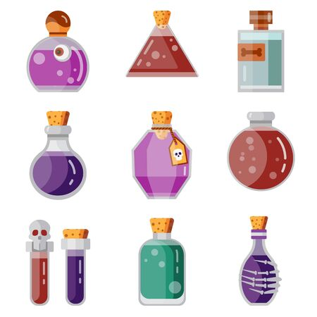 Potion Magic Bottles Fantasy Flat Gaming Icon