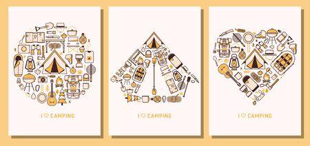 私はキャンプやハイキングラインカードが大好き