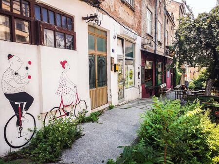 Bike Murals on Savamala District in Belgrade