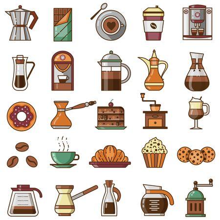 Coffee Shop or House Menu Icon Set