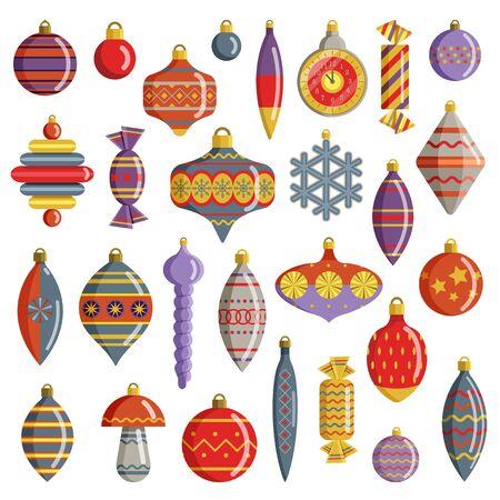 USSR Vintage Ornaments and Christmas Tree Decorations 일러스트