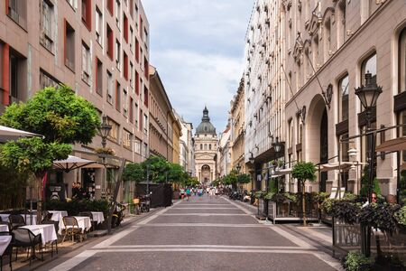 Street Leading to St. Stephen Basilica View