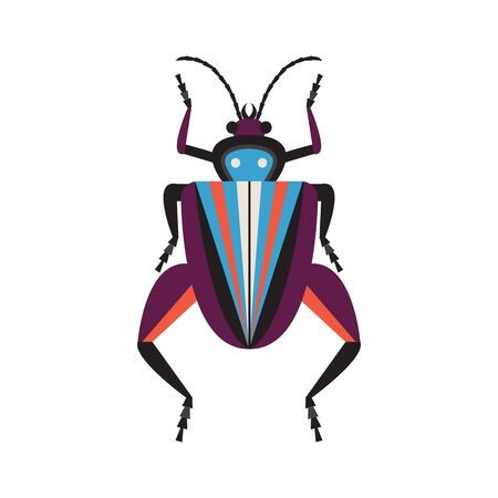 Weird Frog Legged Exotic Bug Flat Icon 스톡 콘텐츠 - 134531974