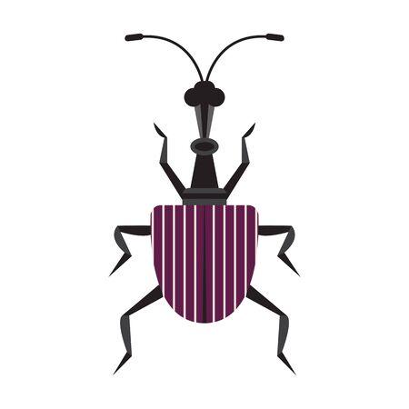 Giraffe Weevil Bug Icon in Flat Design