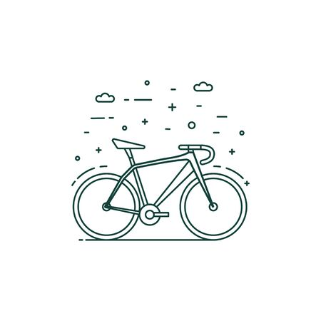 Eco Transportation Icon with Bike in Motion