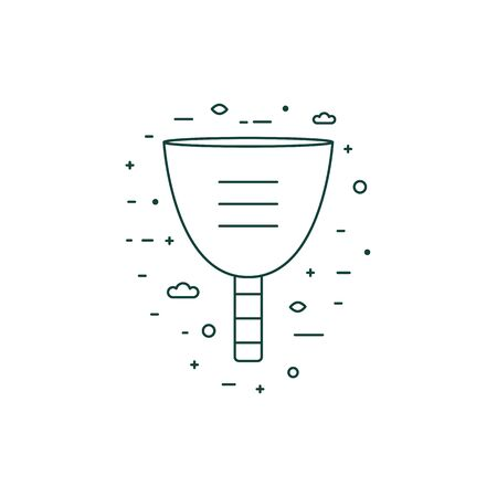 Menstrual Cup Thin Line Icon in Line Art