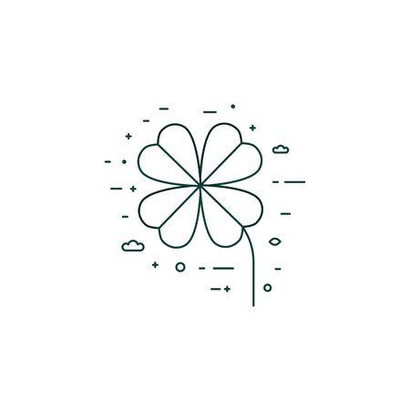 Clover Plant Eco Symbol Line Art Icon
