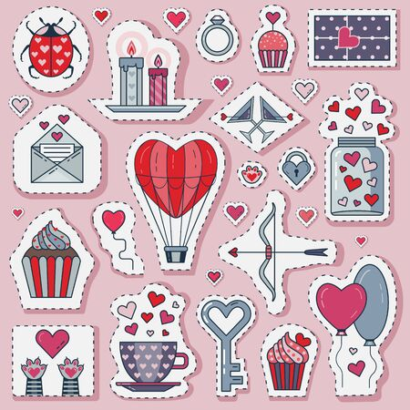 Valentine Day or Romantic Date Love Stickers