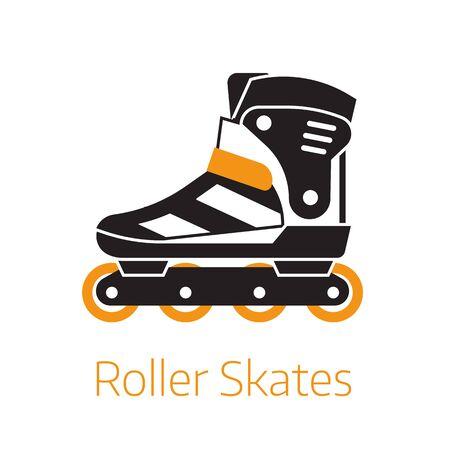 Roller Skates Outline Icon or Logo Template