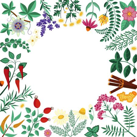 Homeopathic Organic Herbs Shop Invitation Card Template