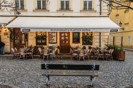 Cafe with Terrace in Prague Old Town
