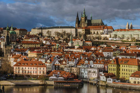 Prague Castle and Gothic Downtown Panorama