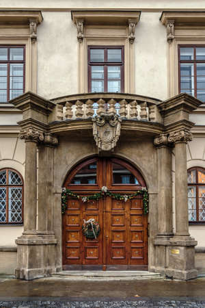 Carved Wooden Doors in Prague Old Town