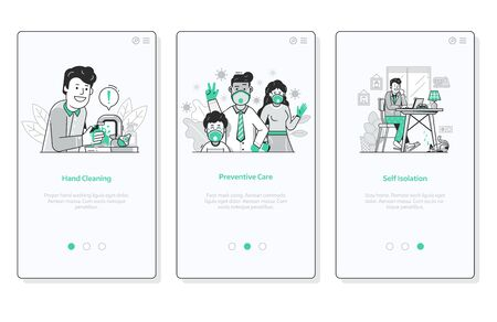 World Virus Pandemic UI Screens for Medical App