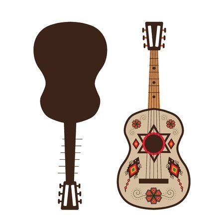 Flat Traditional Mexican Guitar Vihuela Music Instrument