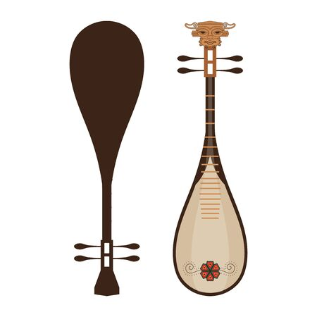 Flat Traditional Chinese Lute Music Guitar Instrument