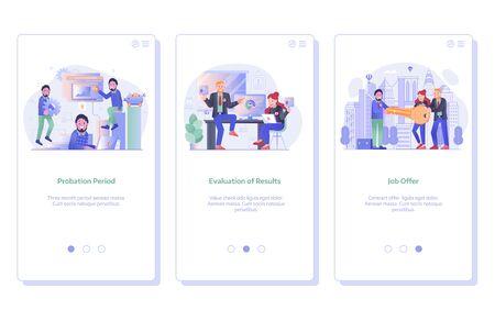 Job Search and Recruitment Process UI Screens