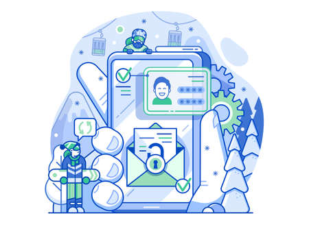 Ski Resort App Concept of Registration with Email