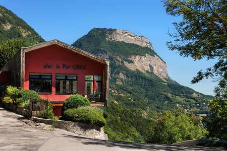 French Mountain Restaurant on Grenoble Bastille Hilltop