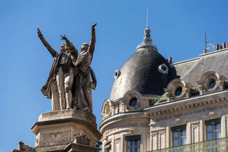 Grenoble Fountain of Three Orders Closeup View