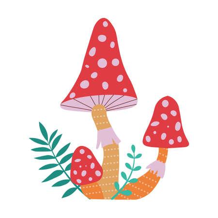 Forest Mushroom Fly Agaric in Cartoon Style