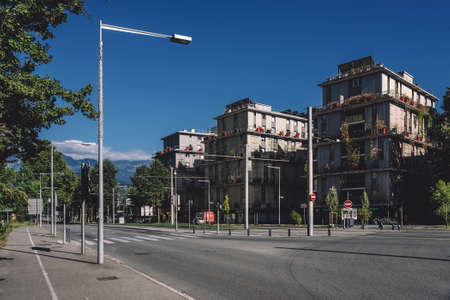 Modern European Residential Building Quarter