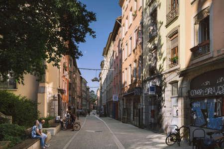 Grenoble Old Town Street Scene