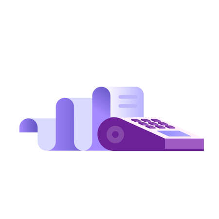 POS Terminal Icon in Flat Gradient Design 向量圖像