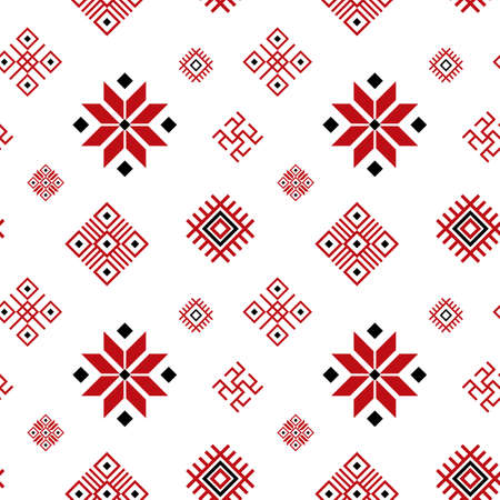 Belarus Ornament Seamless Pattern Background