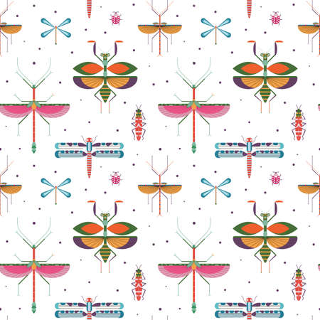Bugs and Insects Geometric Pattern