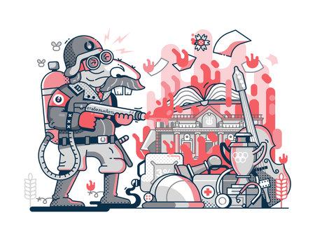 Belarus Political Oppressions Meme in Line Art