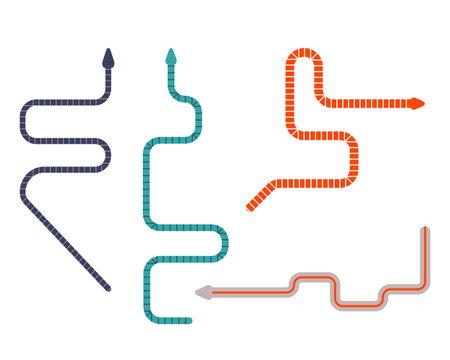 Caecilians Worm Like Tropic Amphibians Flat Icons