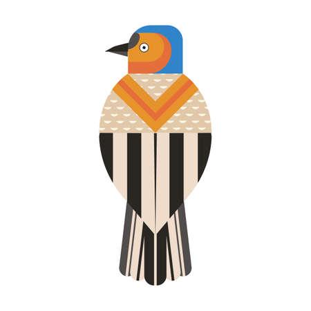 Common Chaffinch Bird Geometric Icon in Flat