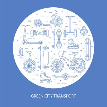 Alternative Green City Eco Transport in Line